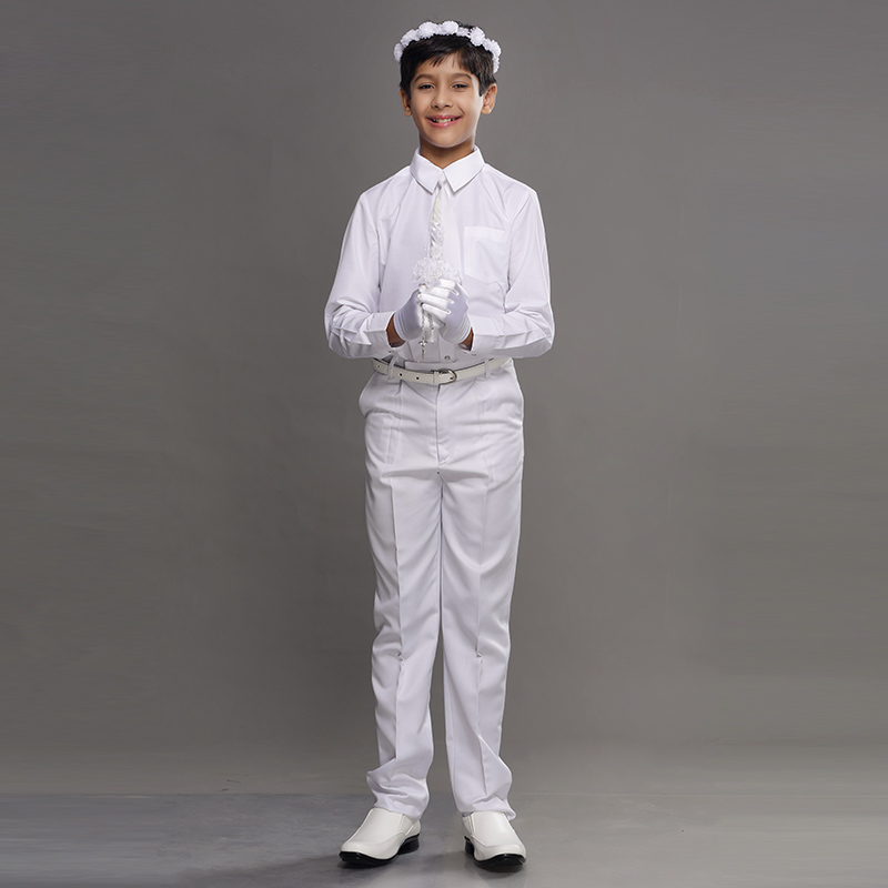 boys holy communion white tie